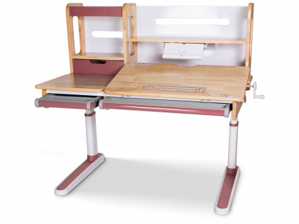 детский стол mealux oxford wood с полкой Mealux BD-920 Wood BL с полкой